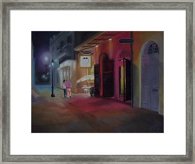 A Night On The Town Framed Print by Marcus Moller
