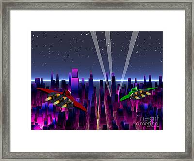 A Night On The Town Framed Print by Walter Oliver Neal
