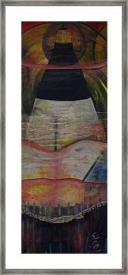 A Night On Tybe Beach Framed Print by Peggy  Blood