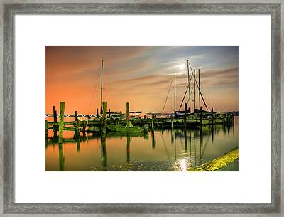 A Night Out At The Marina Framed Print by JC Findley