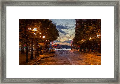 A Night Out On The Town Framed Print