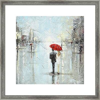 A Night Out On The Town Framed Print by Christine Krainock