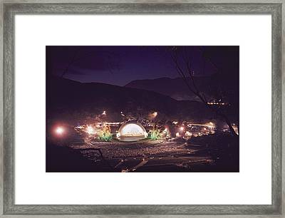A Night Performance At The Hollywood Framed Print by B. Anthony Stewart