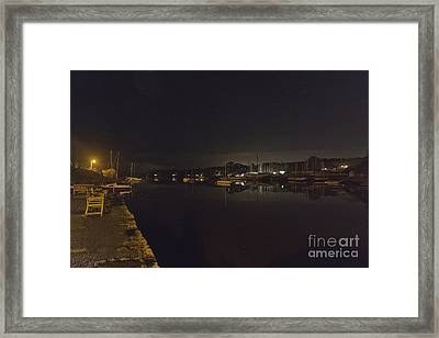 A Night View Of Mylor Creek Framed Print by Terri Waters