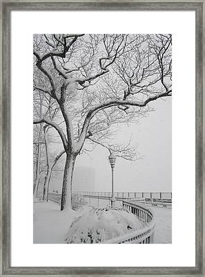 A Nor'easter In Brooklyn Framed Print by Christopher Kirby