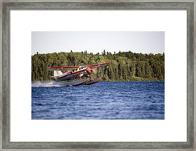 A Norseman Float Plane Takes Off Framed Print by Pete Ryan