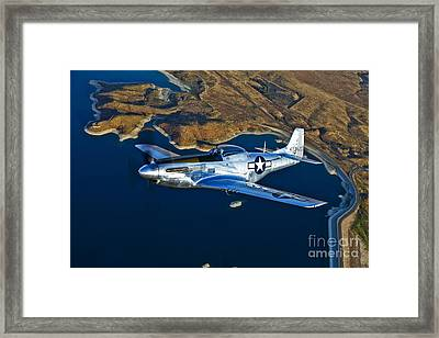 A North American P-51d Mustang Flying Framed Print