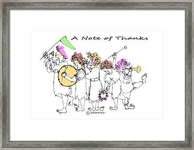 A Note Of Thanks Framed Print by Marilyn Weisberg