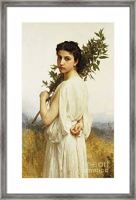 A Nymph Holding A Laurel Branch Framed Print