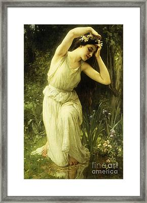 A Nymph In The Forest Framed Print by Charles Amable Lenoir