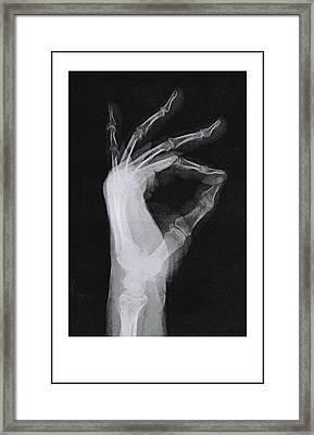 A Ok Framed Print