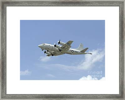 A P-3c Orion Aircraft Takes Framed Print by Stocktrek Images