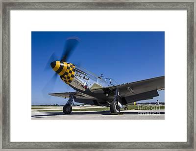 A P-51 Mustang At Waukegan, Illinois Framed Print by Rob Edgcumbe