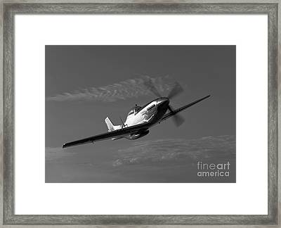 A P-51d Mustang In Flight Framed Print