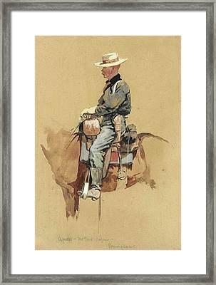 A Packer. Fort Grant. Arizona Framed Print