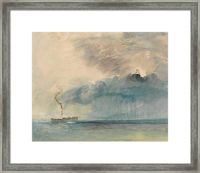 A Paddle-steamer In A Storm Framed Print by Joseph Mallord William Turner