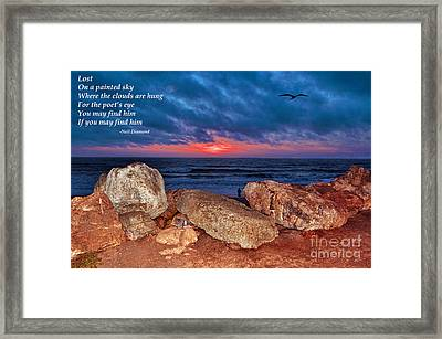 A Painted Sky For The Poet's Eye Framed Print by Jim Fitzpatrick