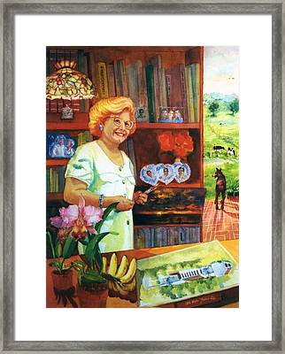 A Painters Bio Framed Print by Estela Robles