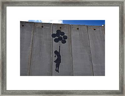 A Painting On The Israeli Separartion Framed Print by Keenpress