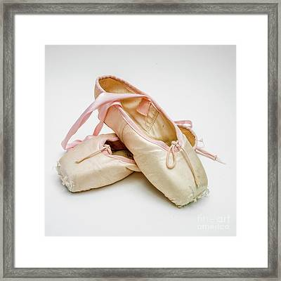 A Pair Of Ballet Shoes Framed Print by Bernard Jaubert