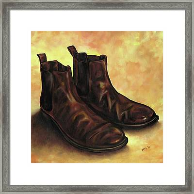 A Pair Of Chelsea Boots Framed Print