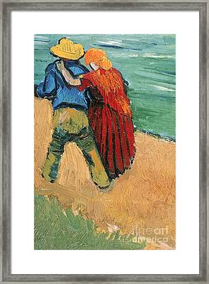 A Pair Of Lovers Framed Print by Vincent Van Gogh