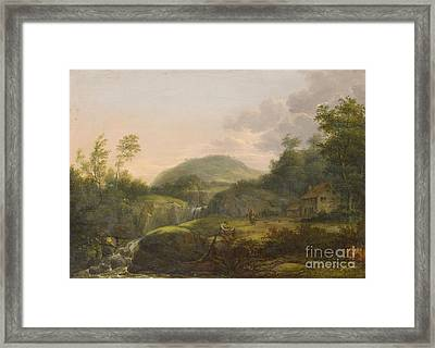 A Pair Of Mountain Landscapes With Staffage Framed Print by MotionAge Designs