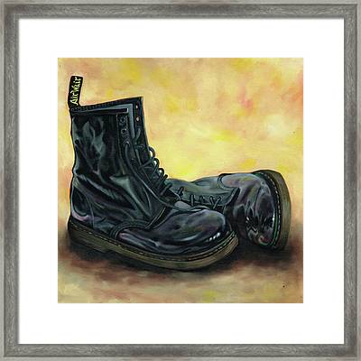 A Pair Of Patent Dr Martens 2 Framed Print