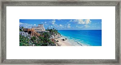A Panoramic Of Mayan Ruins Of Ruinas De Framed Print