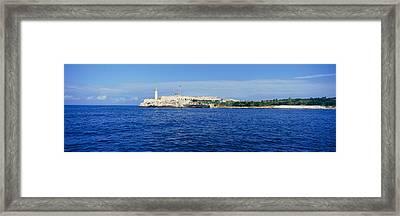 A Panoramic View Of Castillo Del Morro Framed Print