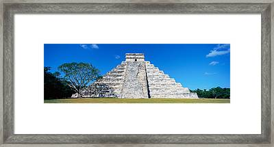 A Panoramic View Of The Mayan Pyramid Framed Print