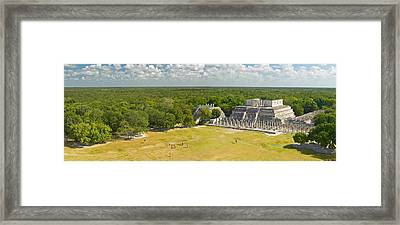 A Panoramic View Of The Temple Framed Print