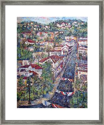 A Parade Is Coming Framed Print by Lily Hymen