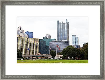 A Park With A View Framed Print by Melinda Dominico