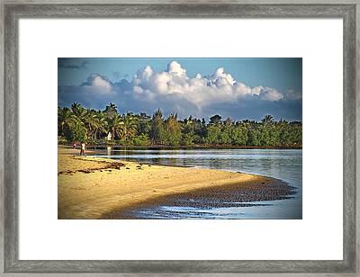 A Part Of Paradise Framed Print by Haingo Rakotosamimanana