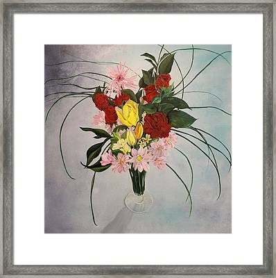 Framed Print featuring the painting A Paslm Of Forgiveness by Jane Autry