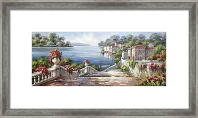 A Passeggiata Al Lago Di Como Framed Print