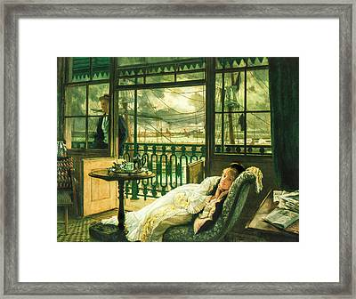 A Passing Storm 1876  Framed Print by Jacques Joseph Tissot