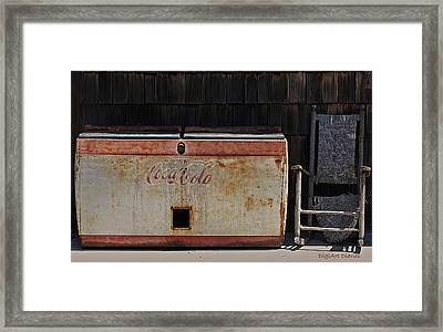 A Past Time Of Enjoyment Framed Print by DigiArt Diaries by Vicky B Fuller