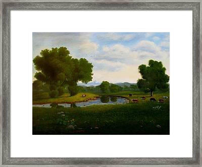 A Pastoral Landscape Framed Print