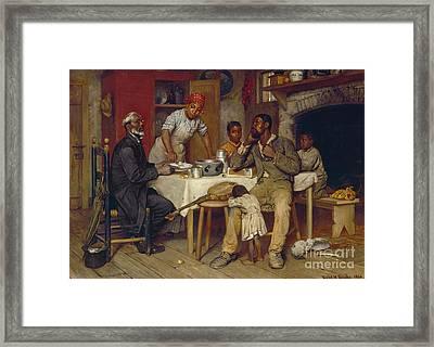 A Pastoral Visit Framed Print by Richard Norris Brooke
