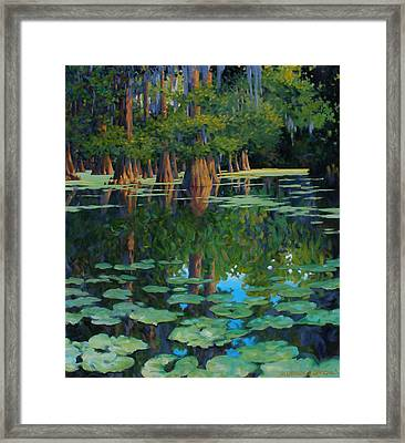 A Patch Of Blue Framed Print by Kevin Lawrence Leveque