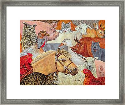 A Patchwork For Laura Framed Print by Ditz