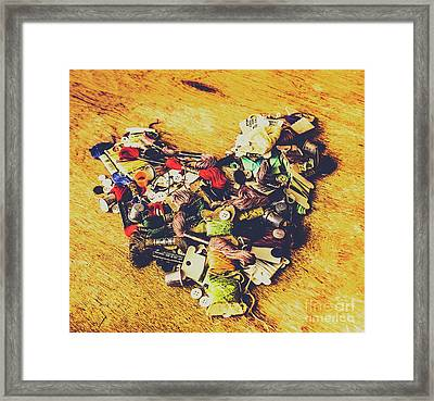 A Patchwork Heart Framed Print