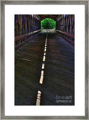 A Path Of Light Framed Print by Robert Pearson