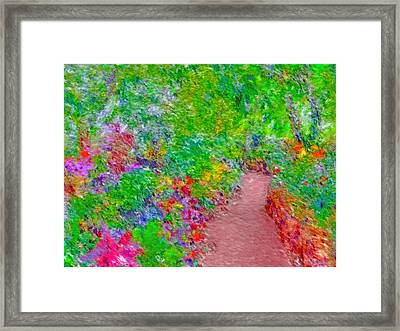 Framed Print featuring the digital art A Path Through Eden by Digital Photographic Arts