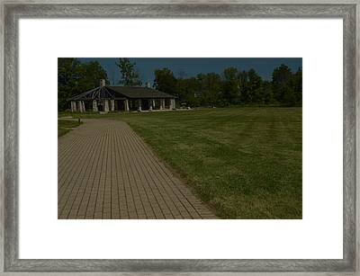 A Path To Shelter Framed Print by Cim Paddock