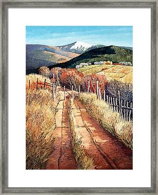 A Path Unknown Framed Print