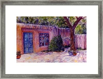 A Patio In Santa Fe Framed Print
