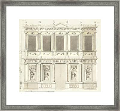 A Pavilion Elevation For The Sultana Hadige Palace At Defterdar Bournou Framed Print by Anton Ignaz Melling